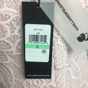 Karl Lagerfeld Dresses - NWT KARL LAGERFELD PARIS ROSE LACE SHIFT DRESS 8